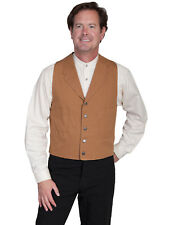 Scully Wahmaker Mens Brown 100% Cotton USA Big Duckin Canvas Vest