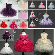 Flower Girls Princess Baby Birthday Party Wedding Pageant Communion Formal Dress