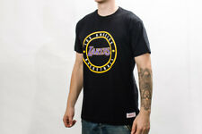 Mitchell & Ness NBA Los Angeles Lakers Circle Tee NBA-CPATCHTRAD-LALAKE-BLK