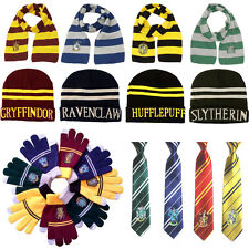 NEW Scarf Hat Tie Gryffindor Slytherin Hufflepuff Ravenclaw Harry Potter Cosplay
