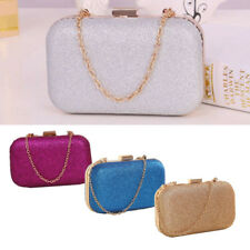 Fashion Ladies WomenS Clutch Box Evening Party Glitter Chain Hand Bags Wallet US