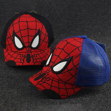Kids Children Spiderman Baseball Cap Boys Girls Adjustable Hat Mesh Snapback New