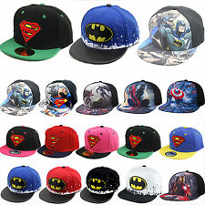 Kids Hip-Hop Snapback Superman Batman Spiderman Baseball Cap Adjustable Sun Hats