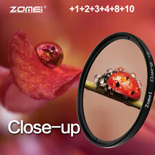 Zomei Pro Macro Close-up Lens Filter Kit Set 52 58 62 77 82MM +1+2+4+10 for DSLR