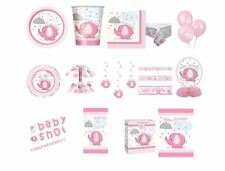 Umbrellaphants Baby Shower Party Supplies Decorations Tableware Girl Pink