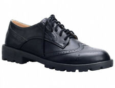 MaxMuxun Ladies Womens Oxfords Leather Sole Flat Low Heels Lace Up Dress Shoes