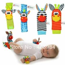 Sozzy Baby Rattle Toys Garden Bug Wrist Rattle and Foot Socks