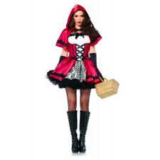 Red Riding Hood Gothic Red Costume Women's Adult Fairy Tale Fancy Dress Outfit