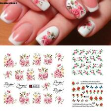 3D Flower Nail Stickers Polish Foils Nail Art Manicure Tips Sticker Decal EE