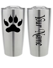 Cat Paw Personalized Name 2 Pieces Vinyl Decal Sticker Cup Tumbler Car Choice