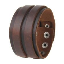 Tribe Cool Jewelry Wide Punk Rock Leather Wristband Cuff Bracelet Bangle