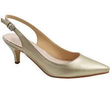Greatonu Womens Gold Pointed Shoes Synthetic Leather Stiletto High Heels Sandals