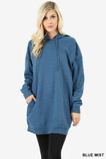 Women Casual Oversized Loose Fit Hoodie Long Tunic Sweatshirts Top