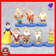 8pcs/Set Princess Snow White And Seven Dwarfs Pvc Action Figures Collectibles