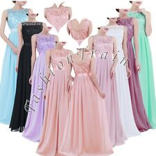 Formal Evening Party Lace Prom Cocktail Bridesmaid Wedding Long Gown Women Dress