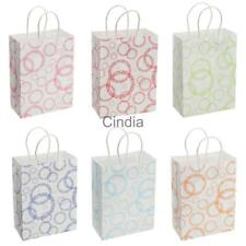 12pcs Paper Party Bags Gift Bags Handle Big Small Circles Recyclable Loot Bags