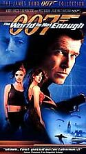 The World Is Not Enough (VHS, 2000) JAMES BOND PIERCE BROSNAN BRAND NEW IN WRAP