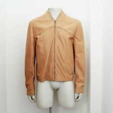 New Maison Martin Margiela Peach Tone Leather Jacket Size 50 BNWT RRP £1010