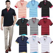 Mens Polo Short Sleeve T-Shirt Golf Casual Cotton Tops Sports Jersey Tee Clothes
