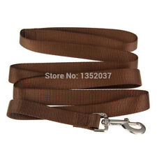 Pet Dog Lead Training Walk Rope Strong Nylon Dog Leash Collar brown