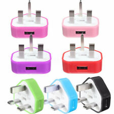 General UK USB Plug Charger Adapter Mains Wall Home For Samsung Phone & Tablets