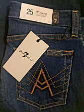 "NWT Womens 7 for all mankind Jeans ""A"" pocket flare size 25"