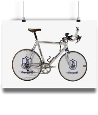 Miguel indurain pinarello banesto bicycle prints illustration campagnolo record