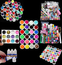 Acrylic Nail Art Tips Powder Liquid Brush Glitter Clipper Primer Gel Nail Polish