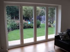 White uPVC 2 Segment Bi Folding Doors / MADE TO MEASURE /  BRAND NEW
