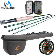 Fly Rod Combo 9' 5WT 6WT Fly Rod and Fly Fishing Reel Pre-Spooled 5/6 weight