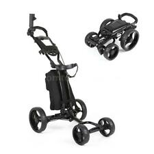Portable Golf Bag With/without Wheels Foldable Aluminum Push Pull Golf Cart