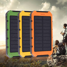18000mAh Solar Panel 2A 1A Battery Power Bank External Portable Phone Charger EF