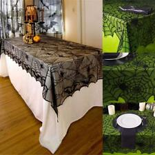 Polyester Lace Tablecloth Halloween Party Spider Web Bat Rectangular WT88