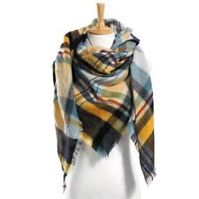 Women Square Multifunction Plaid Blanket Scarf Checked Wrap Shawl Winter WT88