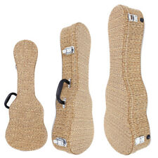 """New Special Straw Braid 21"""" 24"""" 26"""" Artificial Leather Ukulele Case Bag"""