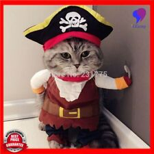 Pet Dog Cat Halloween Costumes Clothes Pirate Captain Puppy Dog Coat Apparels