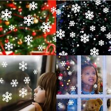 Snowflake Window Clings Reusable Stickers Quick Simple Christmas Decoration Pack