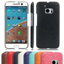Unique Slim Hard PC Protective Case Leather Skin Shockproof Cover For HTC Phone