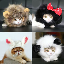 Pets Cats Dogs Costume Wig Lion Mane Cosplay Hair Hat Halloween Xmas Clothes