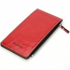 Women New Arrival Pu Leather Thin Double Zipper Credit Card Holder Wallet