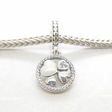 Genuine Authentic S925 Sterling Silver Hearts of Love Pendant Charm 792104CZ