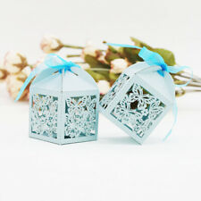 20x Butterflies Paper Boxes with Ribbon Wedding Party Candy Boxes Favors