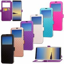 Luxury Leather Stand Flip Wallet View Window Case Cover For Samsung Galaxy Note8