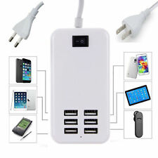 6 Port Multi-function USB Wall Charger Station Power Adapter for iPhone Samsung