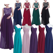 Chiffon Long Evening Party Prom Ball Gown Women Formal Bridesmaid Dress Cocktail