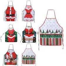 Merry Christmas Cooking Apron Home Kitchen Catering Accessories Novelty Gift