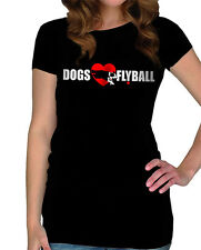 Ladies Dog's Flyball T-Shirt, Available in 2 Colours.