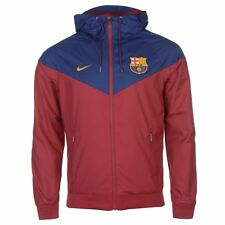 Nike FC Barcelona Woven Track Jacket Mens Red/Royal Football Soccer Tracksuit