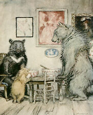 English Fairy Tales  Arthur Rackham repro  glossy Photo Print The Three Bears