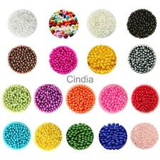 500pcs Multi Color ABS Plastic Pearl Spacer Beads Craft Round Loose Beads Craft